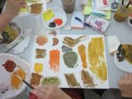 preparació dels papers de collage